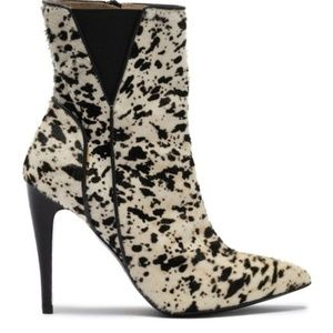 Halston Heritage Val Calf Hair Pointed Toe Boot